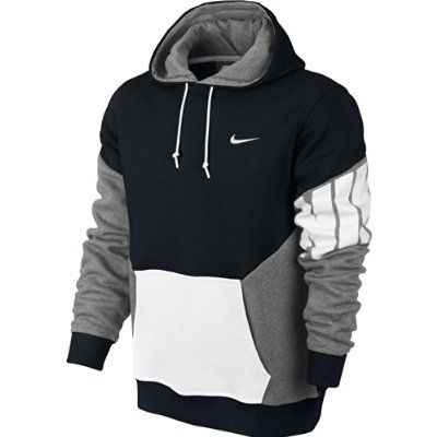Nike Club Hoody-New Clrblk - Sudadera para hombre, color negro / gris / blanco, talla M-T
