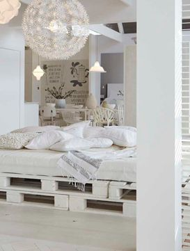the latest 203bd 09a55 Pallet bed! White bedroom Ikea pendant interior design home ...