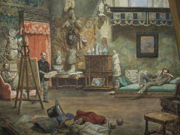 Pracownia Henryka Rodakowskiego w Paryżu - Juliusz Kossak