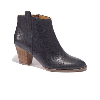 The Billie Boot in brown - must add to my fall wardrobe: Boots Women, Fashion, Style, Ankle Boots, Black Bootie, Billie Boot, Madewell, Booties Shoes, Wear