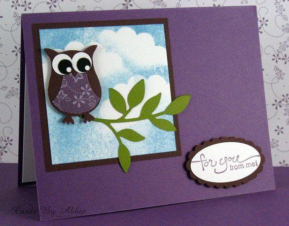 cute owl handmade cardcardsbyabbie 350 www