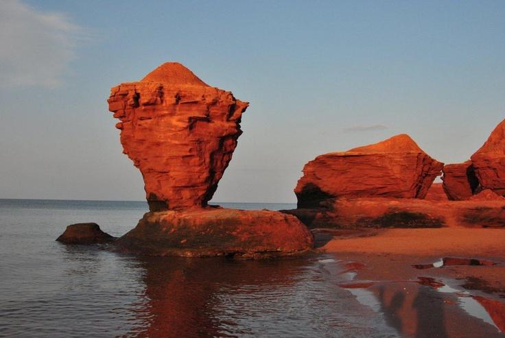 Tea cup rock. Twin Shores Camping Area - Darnley, Prince Edward Island