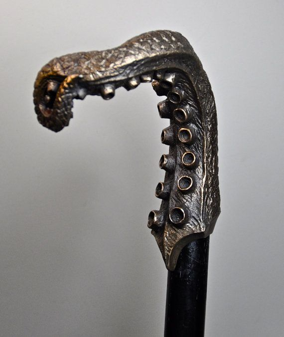 Tentacle Cane Limited Edition Bronze by Dellamorteco on Etsy, $150.00