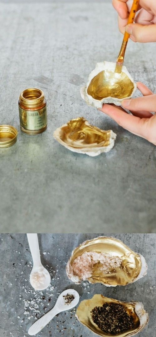 #DIY Oyster Shell Holders