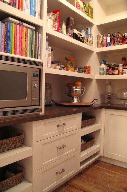 112 best images about walk in pantries on pinterest barn for Walk in pantry cabinets