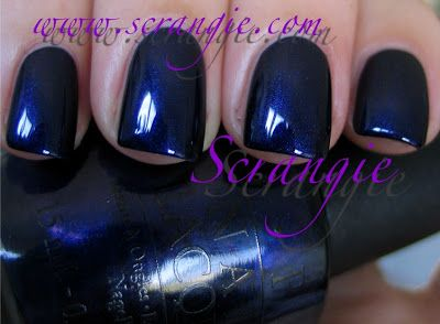 OPI Russian Navy - sink your teeth - and toes! - into this luscious dark blue.