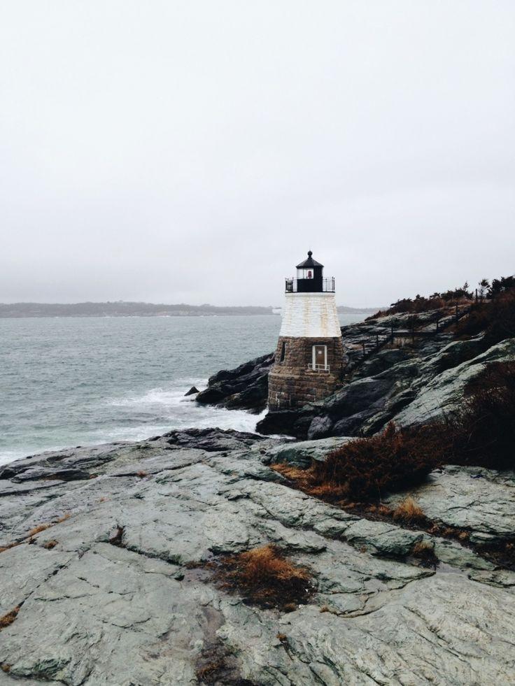 Castle Hill Lighthouse. Newport, Rhode Island