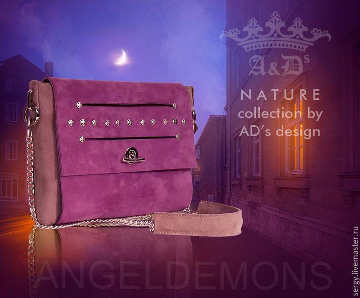 Купить Сумка-клатч Lilac - сиреневый, сумка, клатч, сумка змшевая, сумка ручной работы