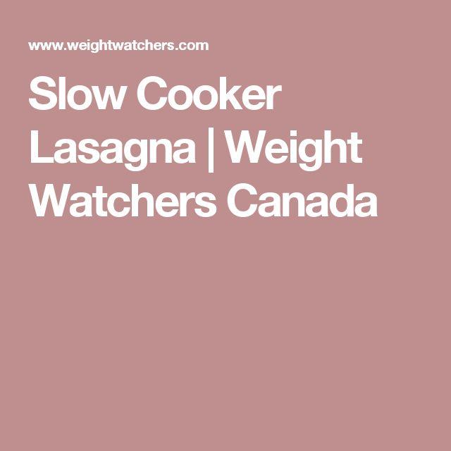 Slow Cooker Lasagna | Weight Watchers Canada