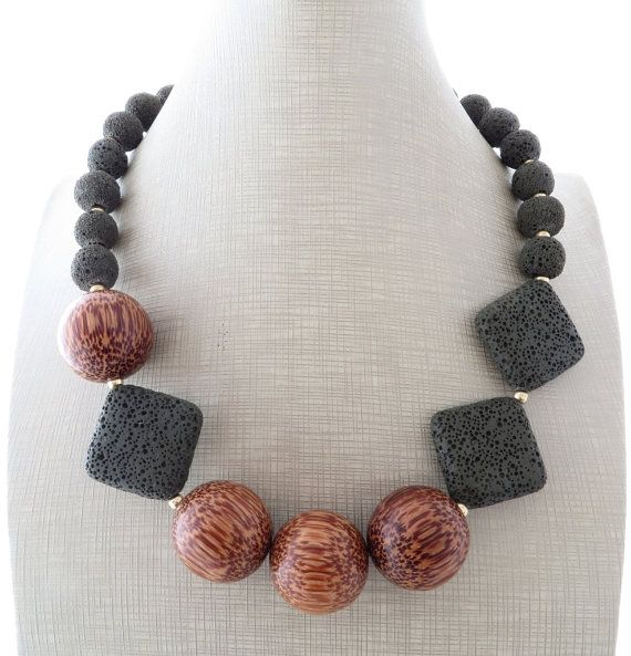 Lava necklace and earrings green chunky necklace от Sofiasbijoux
