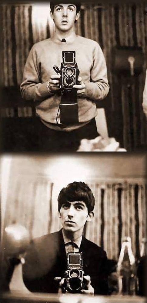 Paul McCartney and George Harrison.