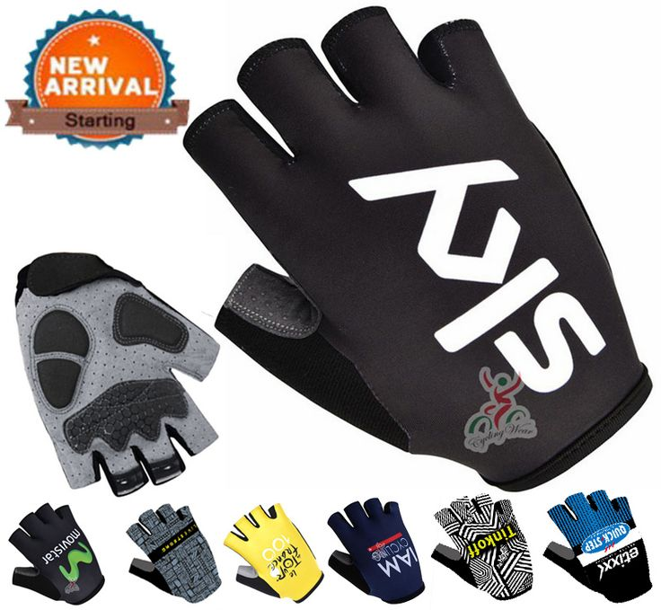 2016 Pro Brand Mountain Road Bike Sports Gloves/100% Lycra Breathable Racing Bicycle Cycle Glove/Black Gel  Pad Cycling Gloves
