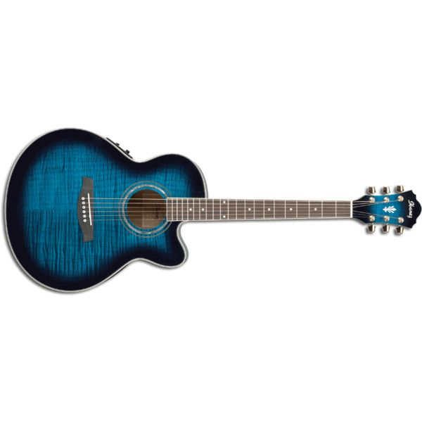 Ibanez :: Acoustic Guitars :: AEL20ETBS ❤ liked on Polyvore featuring guitars, music, instruments, accessories and random