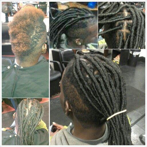 Silky dread extensions dread head