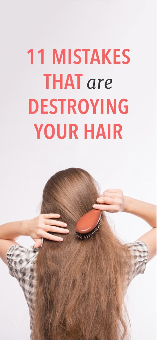 11 mistakes that are ruining your hair