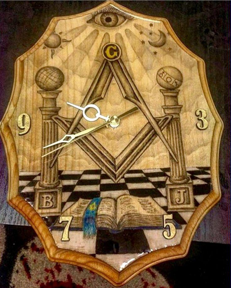 Freemason clock