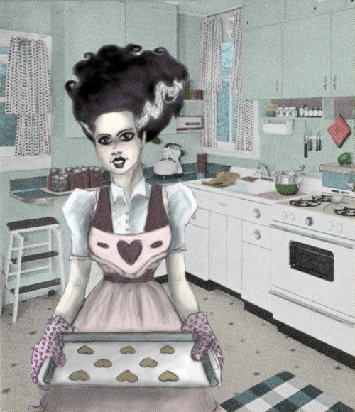 Bride of Frankenstein housewife