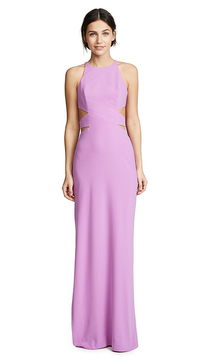 Halston Heritage High Neck Tie Back Gown   SHOPBOP SAVE UP TO 25% Use Code: GOBIG18