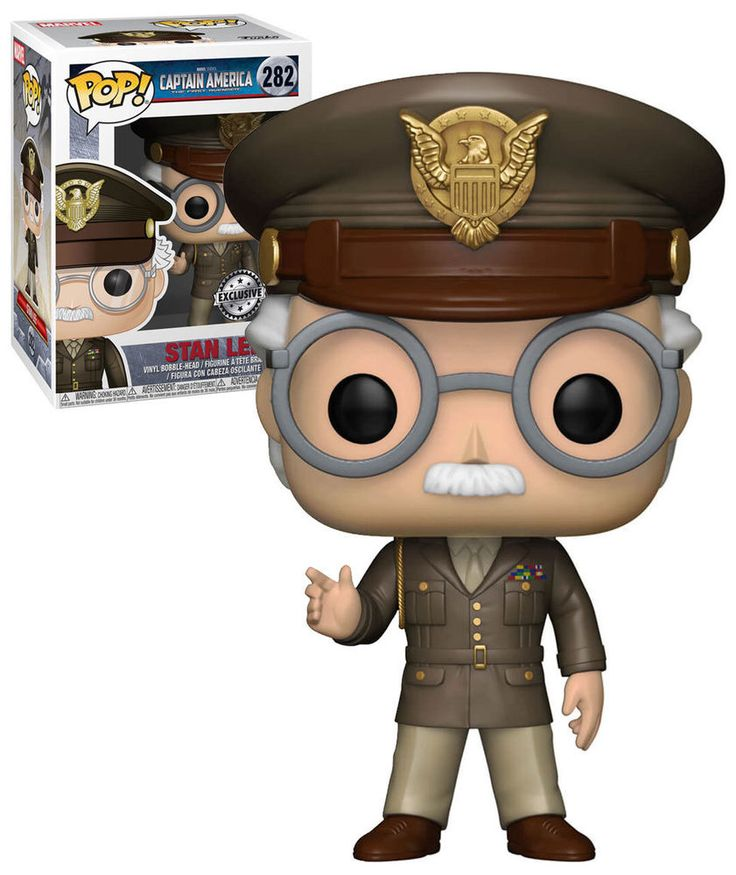 Funko POP! Marvel Captain America The First Avenger #282 Stan Lee Cameo, Exclusive - New, Mint Condition.  https://www.supportivepc.com  #Funko #FunkoPop #DCSuperHeroes #Collectibles