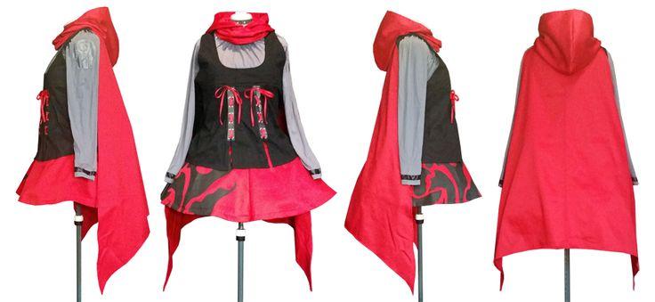 Finished custom Ruby Rose costume