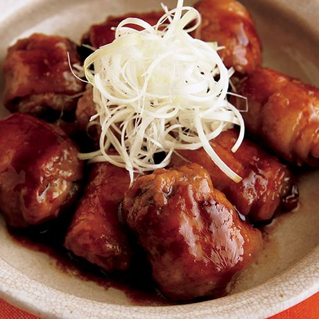 薄切り肉の巻き巻き角煮 | 市瀬悦子さんの角煮・煮豚の料理レシピ | プロの簡単料理レシピはレタスクラブニュース