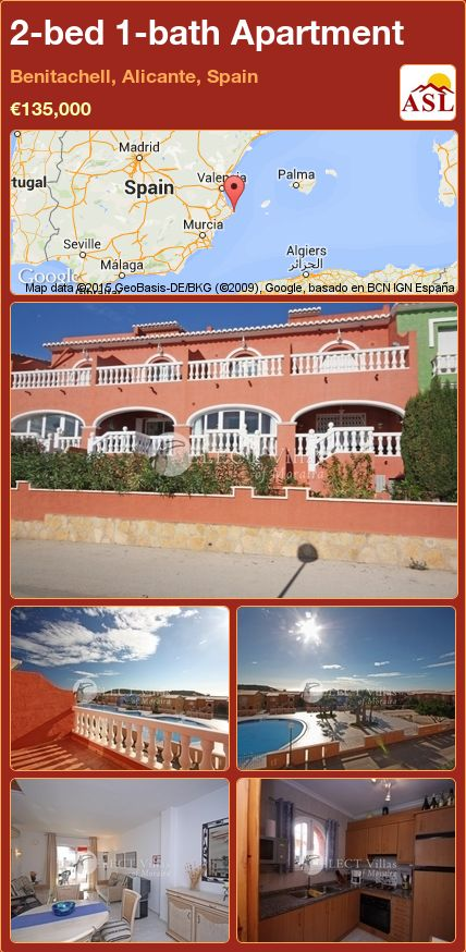 2-bed 1-bath Apartment in Benitachell, Alicante, Spain ►€135,000 #PropertyForSaleInSpain