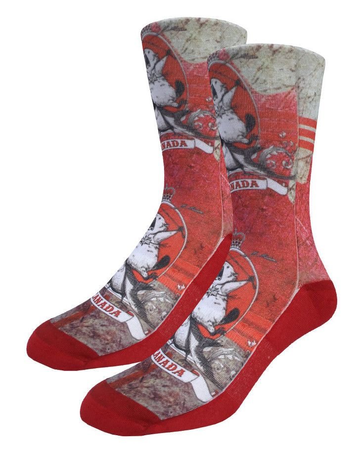 Majestic Canadian Beaver | Good Luck Sock | goodlucksock.com #socks