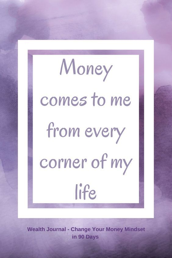 #1 Wealth affirmation to help you change your money mindset which will help you manifest more abundance using the Law of Attraction. Use the affirmation and see what it brings up for you, then work on eliminating any limiting beliefs. From the Wealth Journal: Change Your Money Mindset in 90 Days ~ available on Lulu, Amazon & Etsy