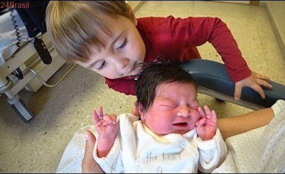 REAÇÃO CONHECENDO A IRMÃ!! 1 Dia Depois do Nascimento da Bebê Laura - Pós Parto Normal 👶 Gravidez