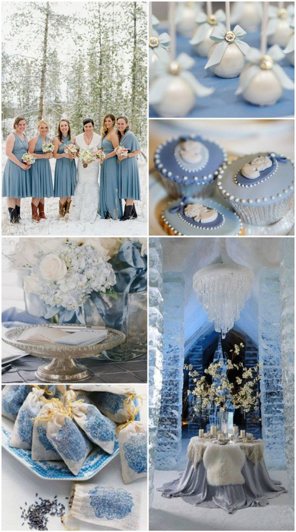 Ideen für 2014 Winter Hochzeit in der Farbe Grau, Silber, Plum, Rosa, Blau dusty blue Gastgeschenke Hochzeit Brautjungfernkleider Hochzeitskleider Tischdeko