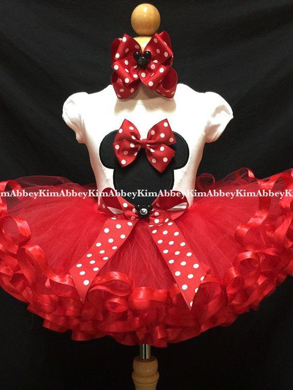 Tutu de Minnie Mouse set tutú de cinta la silueta por Abbeykim1