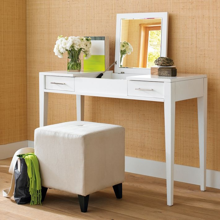 11 best images about makeup storage on pinterest storage for Narrow dressing table