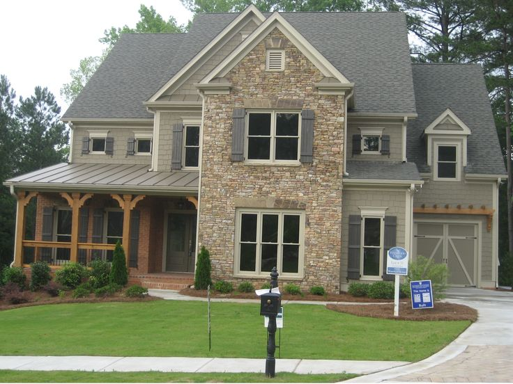 Craftsman With Stone Front Elevations Atlanta Georgia