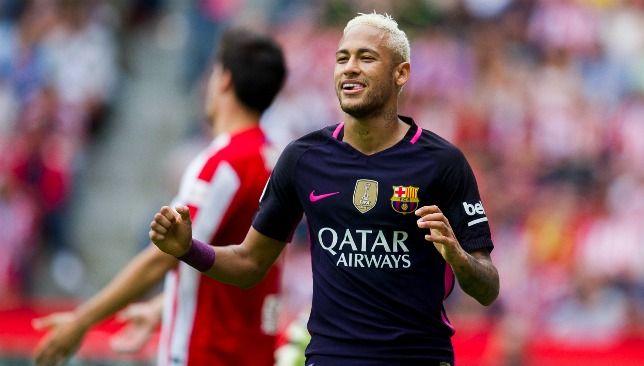 European Football round-up: Neymar scores two as five-star Barcelona thrash Sporting Gijon