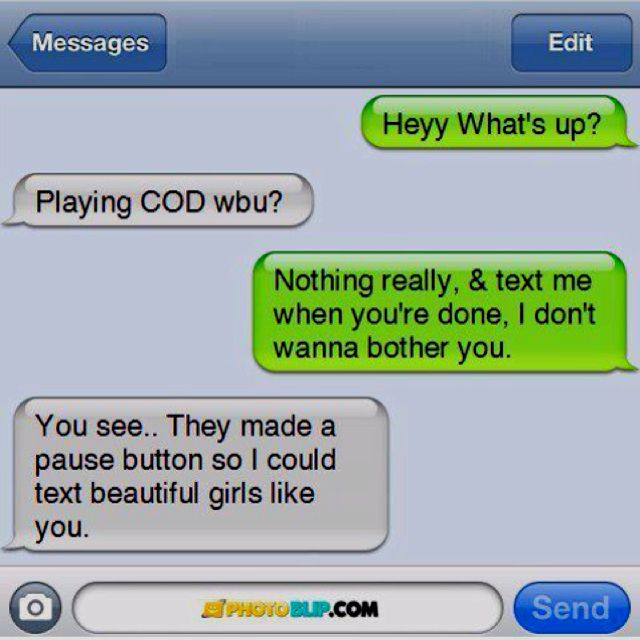 This is just adorable<3 if a guy pauses a video game to text you back MARRY HIM!