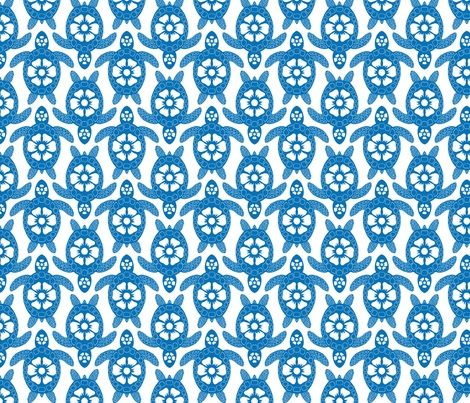 A Sea of Turtles fabric by coloroncloth on Spoonflower - custom fabric
