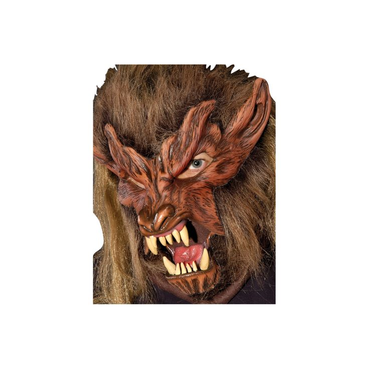 Halloween Lone Wolf Latex Costume Mask - One Size Fits Most, Men's, Multi-Colored