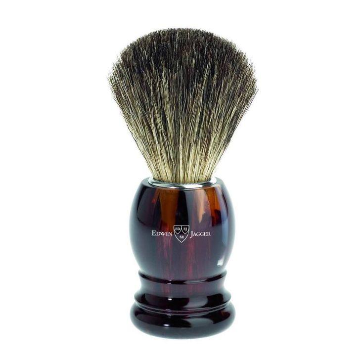 Badger Brush - Edwin Jagger Pure Badger Tortoiseshell Shaving Brush