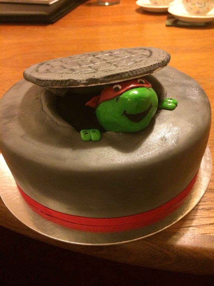TMNT Raphael manhole cover cake