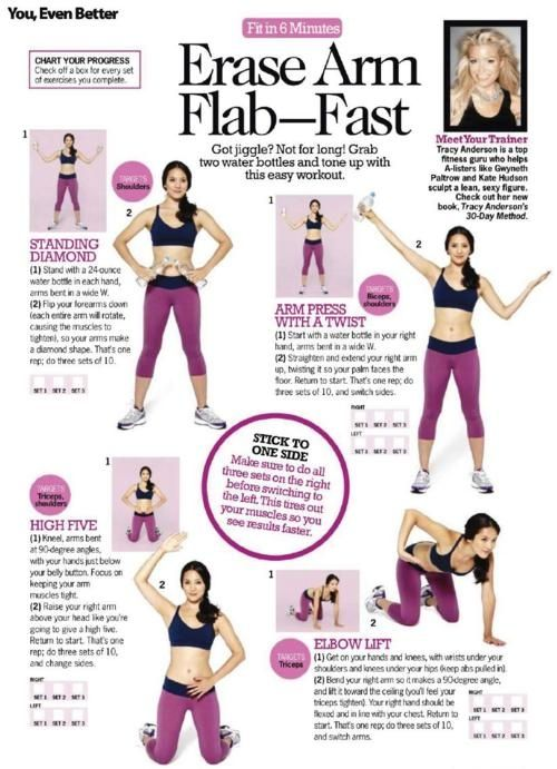 At home exercises - even without weights!Tone Arm, Water Bottle, Flabby Arm, Arm Workout, Tracy Anderson, Arm Flab, Arm Exercies, Work Out, Arm Exercise