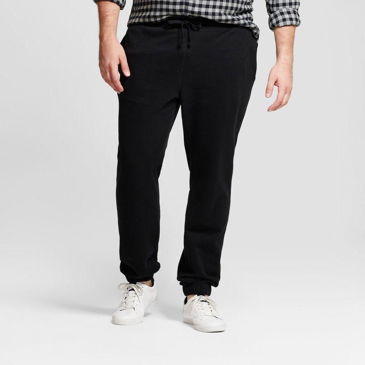 Men's Big & Tall Standard Fit Jogger Pants - Goodfellow & Co Black L Tall, Size: LT
