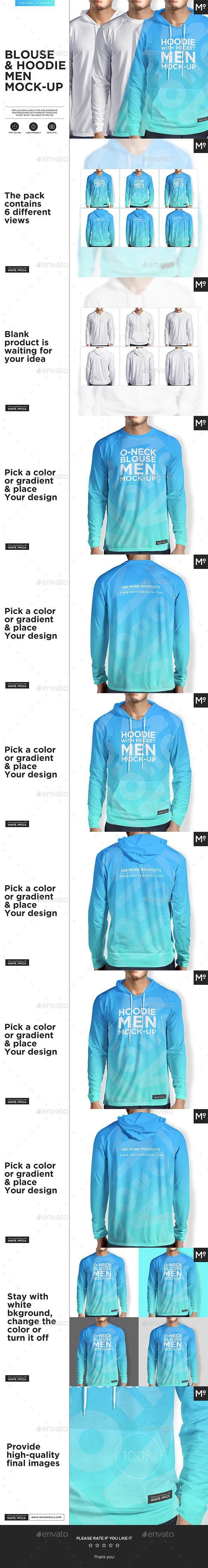 Download 2 Types Of Hoodie Blouse Mock Up Clothing Mockup Hoodie Mockup Shirt Mockup