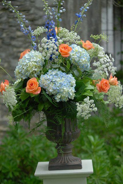 #Hydrangeas, #roses, #arrangement