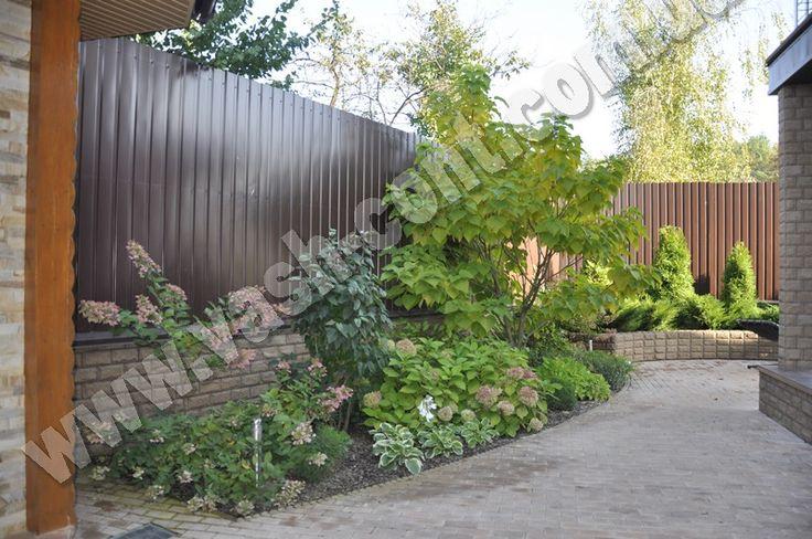 Озеленение двора в Бортничах