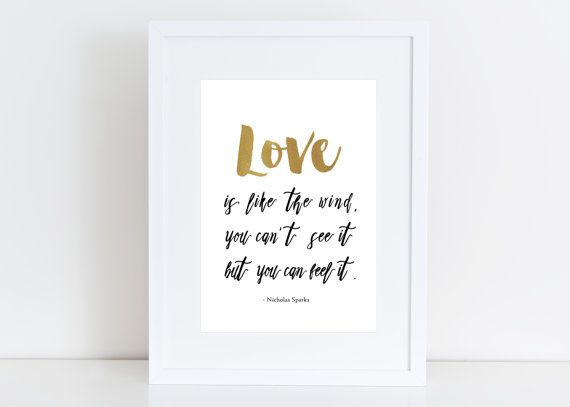 Love is like the wind - A walk to remember - Nicholas Sparks