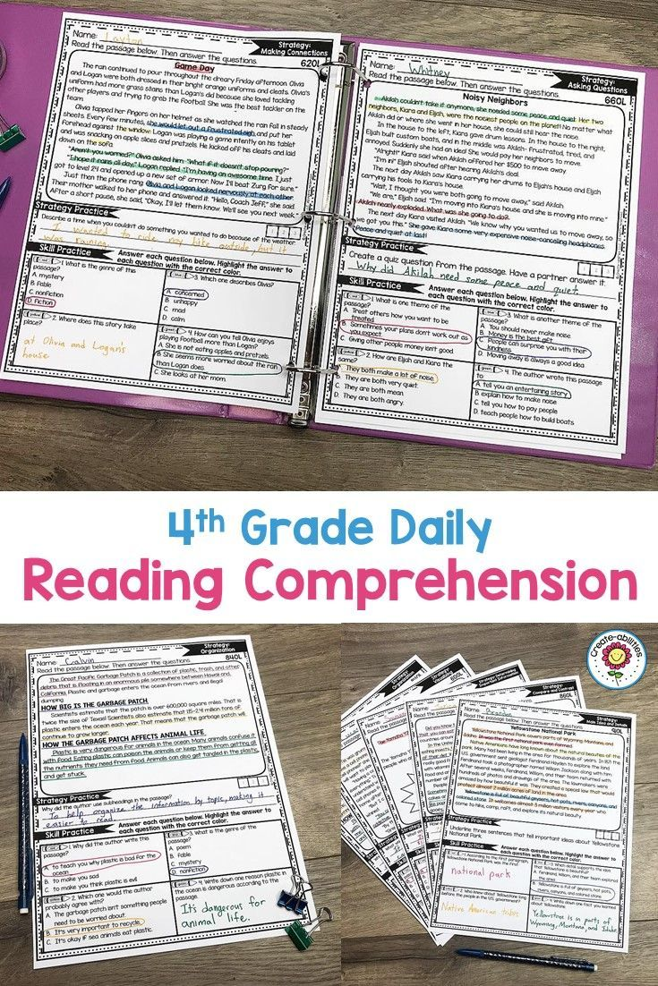 Reading Comprehension Passages 4TH GRADE | Reading | Reading
