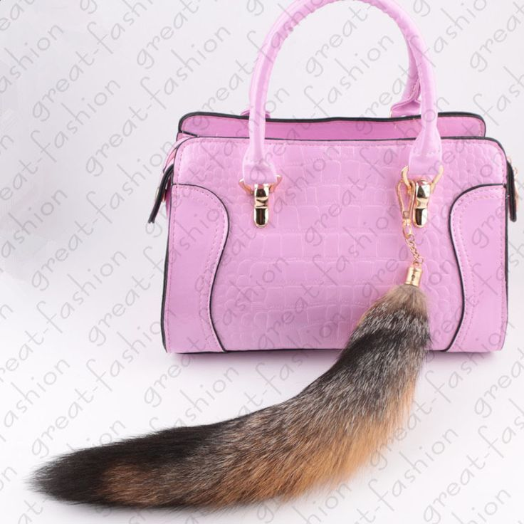 Real fox tail keychain fur Bag ornaments tag charm keyring fox tail key chain fur pendant 5 star quality free shipping