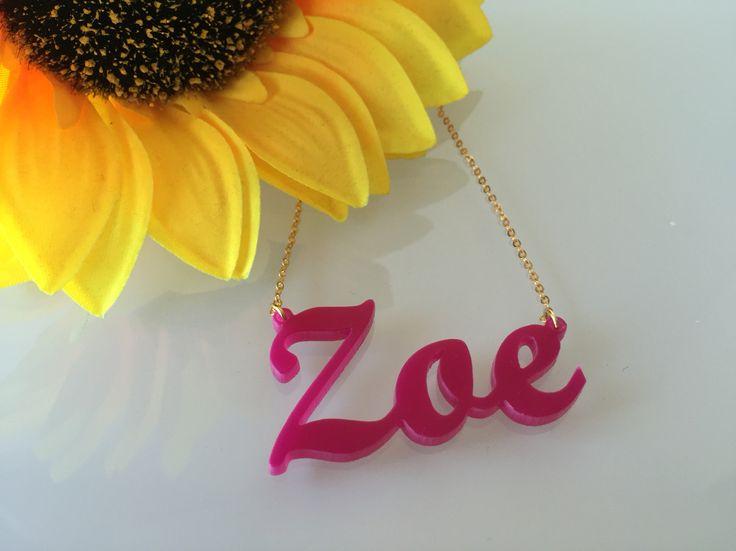 Acrylic Karen Style Name Necklace