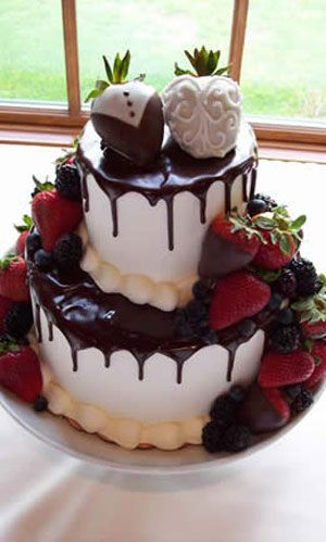 I'd much rather have a chocolate covered strawberry than a cake topper I'll never use again!!!