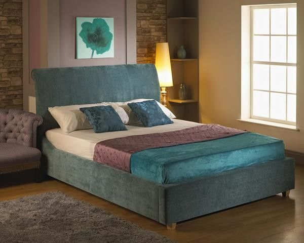4ft 6 Peru Fabric Double Bed Frame Teal